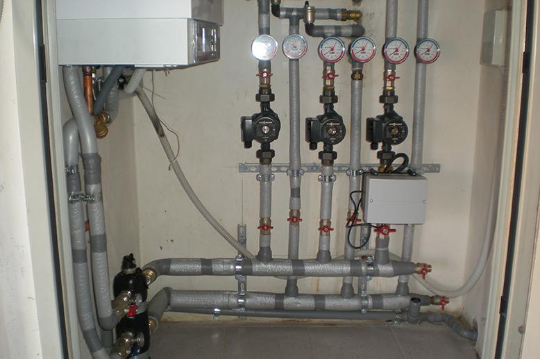 Impianto di riscaldamento su 3 livelli